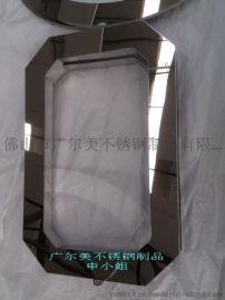折弯切角焊接抛光电镀钛金不锈钢相框 45°角焊接画框