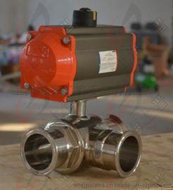 POV+Q684F/Q685F卫生级气动三通球阀