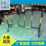 佛山廠家生產黑黃鐵馬護欄移動圍欄紅白隔離欄現貨提供