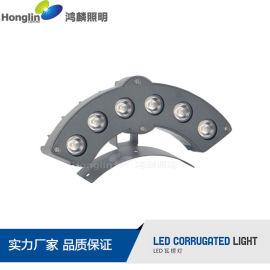 新品6WLED瓦楞灯 LED户外灯 自由调角度