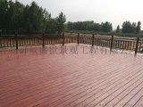 供应城阳碳化木地板 城阳户外炭化木栈道