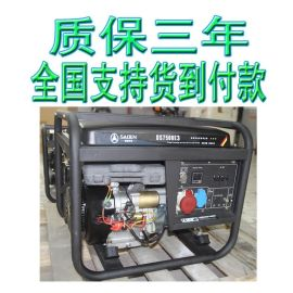 工业工地商铺用电6.5KW三相汽油发电机德国萨登DS7500E3等功率价格
