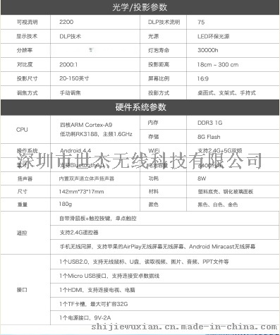 全新智能无线SJ-WP8手机投影仪震撼上市