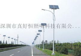 好恒照明专业生产LED 20W 30W 40W太阳能路灯 户外挑臂路灯 乡村太阳能路灯 太阳能庭院灯质保三年 厂家直销 进口芯片 阴雨天持续亮3-5天