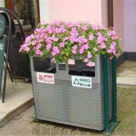 东莞园林绿化工程垃圾桶户外果皮箱园林分类垃圾桶