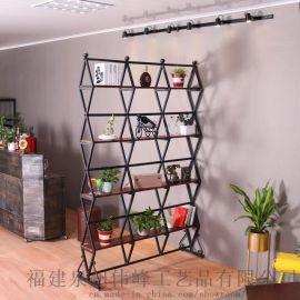 代发简约铁艺现代客厅屏风隔断个性创意置物架子折屏镂空挂屏定制