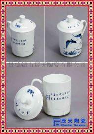 陶瓷茶杯厂家订做 青花山水陶瓷茶杯