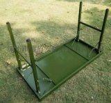 新疆 户外军绿色折叠桌