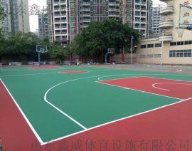 塑胶篮球场地建设公司济南塑胶篮球场