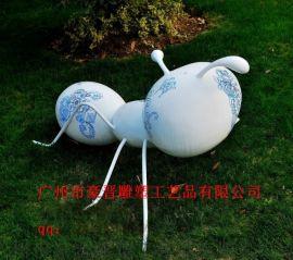 广州豪晋 玻璃钢蚂蚁 仿真动物雕塑 工艺品