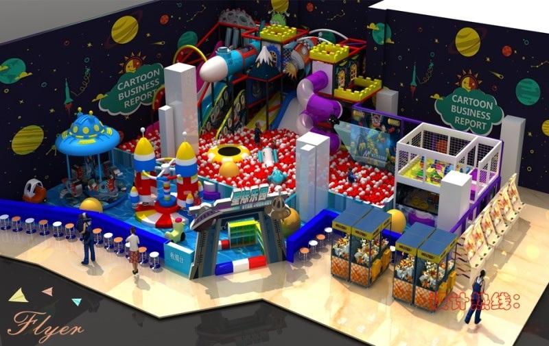 廠家直銷新型太空系列淘氣堡兒童樂園設備廣州飛翔家