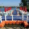 漂浮水上塑料浮橋通道 遊船碼頭水上餐廳浮筒平臺