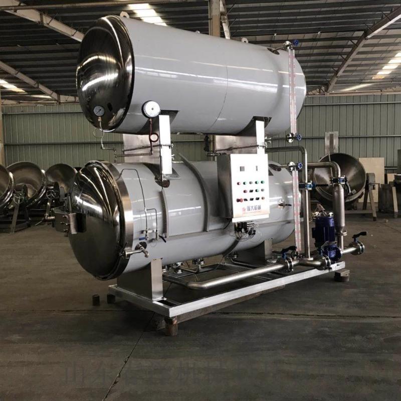 强大机械出售电加热玉米水浴式高温高压杀菌锅