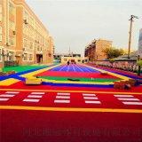 莱芜市气垫悬浮地板篮球场塑胶地板拼装地板