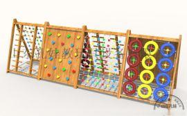 热销幼儿园户外攀爬组合 木制攀爬玩具
