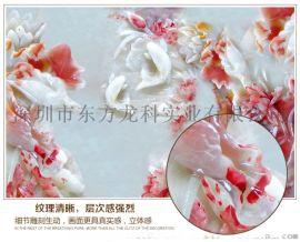 彩印设备致富好项目5D艺术玻璃瓷砖背景墙UV打印机