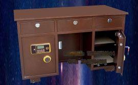 包邮全钢保险桌保险柜一体 家用办公老板桌投币柜电子密码