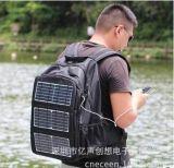 太陽能充電包 雙肩揹包 10W充電包可適配5000或10000ma移動電源