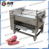 廠家自產現貨供應不鏽鋼毛輥清洗瓜果花生紅薯去皮機