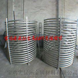 钛盘管钛换热器钛单层盘管