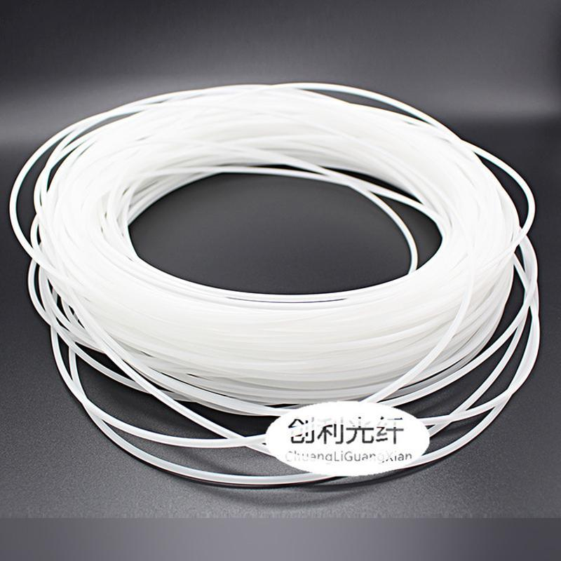 超亮3.0mm乳白鼠标垫光纤通体光纤线幻彩七彩鼠标垫乳白导光光纤
