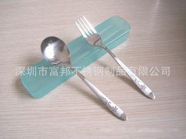 花柄餐具, 勺叉筷套装, 塑料盒勺叉筷三件套