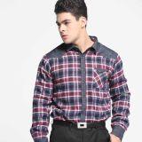 男士加绒保暖格子衬衫YS-619