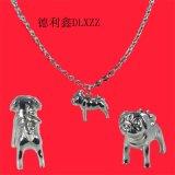 新品TI2铸造纯钛吊坠热卖通用时尚吉祥新款动物形宠物狗狗钢吊坠定制厂家