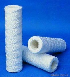 10寸不锈钢骨架脱脂棉滤芯 耐高温脱脂棉线绕滤芯