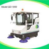 广州厂家自销小区垃圾清扫用全封闭式电动扫地车/驾驶式扫地机