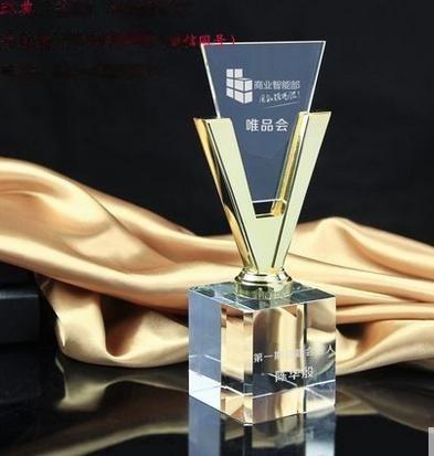个性奖杯艺术奖杯水晶奖杯制作,传统定制类奖杯金杯双耳奖杯奖品