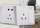 简派86型墙壁电源开关插座  白色10AHONG二三插座  五孔插座  插座厂家