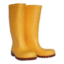 钢头雨靴磨砂面 耐油耐酸碱雨鞋 高筒防砸防刺雨鞋 全新料水鞋雨靴