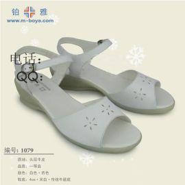 真皮护士凉鞋(1079)
