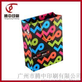 创意艺术图案企业定制商务赠礼宣传专用白卡手提纸袋