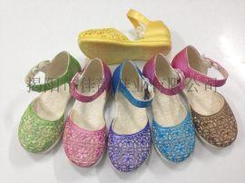揭阳厂家供应儿童擦色镂空单鞋