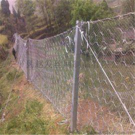 高速铁路柔性防护网. 铁路被动拦石网. 高速被动防护网