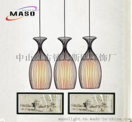 中山厂家直销创意铁艺酒杯餐吊灯 个性饭厅餐厅酒吧咖啡厅杯型灯具批发MS-P4014A