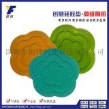 厂家定制不规则形厨房专用硅胶垫/防滑硅胶垫/吸盘硅胶垫 五边形