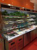 廣州直角、弧形麻辣燙菜品保鮮展示櫃,冷藏保鮮、冷凍兩用一體櫃