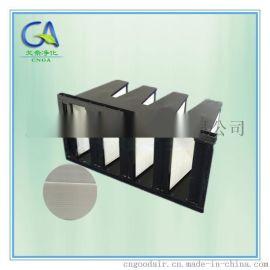 W型盒式高效过滤网 厢式高效HEPA过滤器