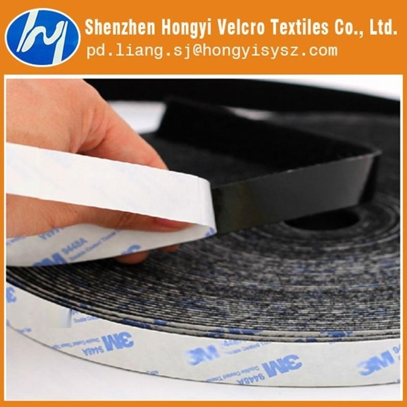 鴻益 黑白背膠 魔術貼 圓形粘扣帶 背膠魔術貼 背膠衝型魔術貼廠家生產批發
