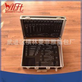 各工具箱鋁箱可定制 加厚鋁合金工具箱 中號航空儀器箱儲物展示箱