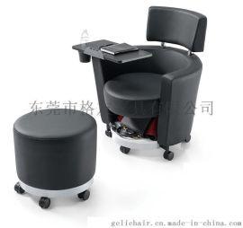 沙發帶寫字板 會議培訓椅 帶寫字板沙發椅