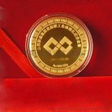 厂家定做金银纪念章金属徽章纪念币纯金纯银币定制