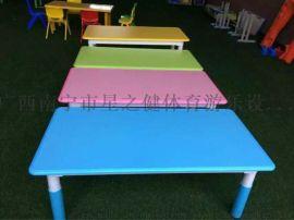 厂价直销幼儿园桌子 塑料椅子儿童升降桌