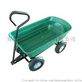 3.50-4四轮花园塑料斗工具车 翻斗车 自卸车