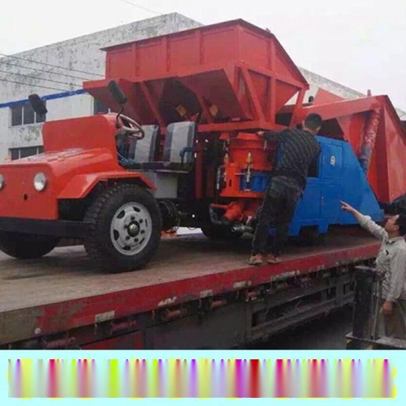 雲南玉溪市單料斗噴漿車性價比高噴漿機橡膠板
