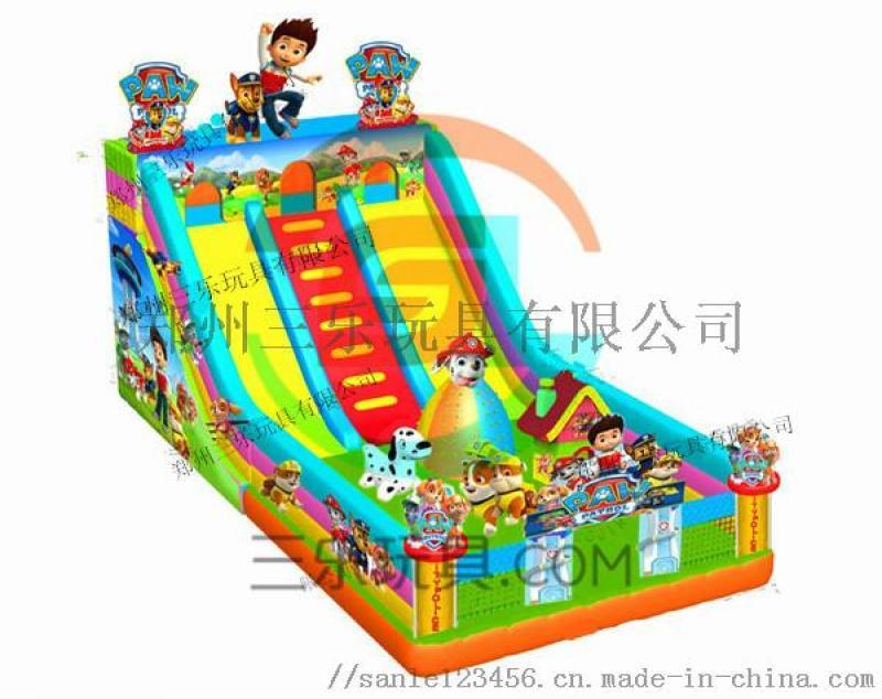 江蘇鹽城充氣滑梯廟會上要提前佔領市場