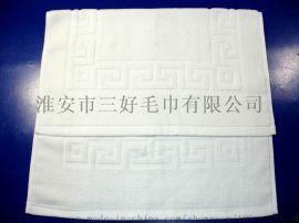 三好纯棉吸水32s/2提花长城纹地巾